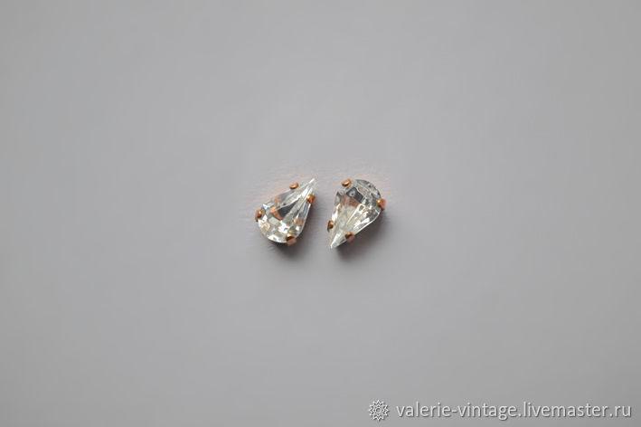 Vintage Swarovski crystals 10h6 mm color Crystal, Crystals, Moscow,  Фото №1