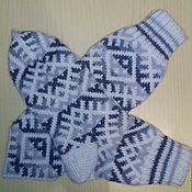 Аксессуары handmade. Livemaster - original item Women`s socks with Nordic pattern. Handmade.