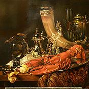 Картины и панно ручной работы. Ярмарка Мастеров - ручная работа Голландский натюрморт,копия. Handmade.