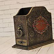 Канцелярские товары handmade. Livemaster - original item Pencil holder organizer with pencil case. Handmade.