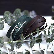 Украшения ручной работы. Ярмарка Мастеров - ручная работа Набор кожаных браслетов намоток из 2 шт / цвета на выбор / браслет кож. Handmade.