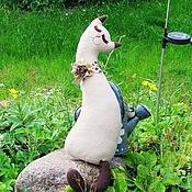 Куклы и игрушки ручной работы. Ярмарка Мастеров - ручная работа Кошка и брошка. Handmade.
