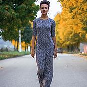 Одежда ручной работы. Ярмарка Мастеров - ручная работа Мокрый асфальт - длинное трикотажное платье. Handmade.