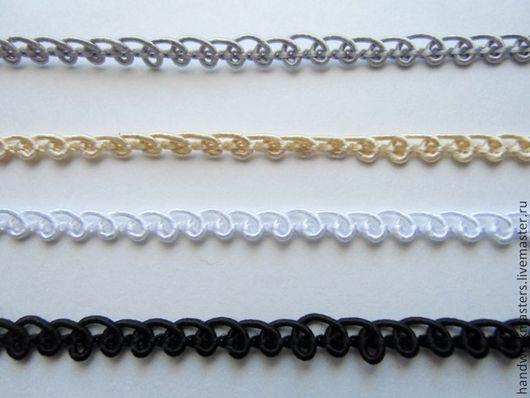 Тесьма-шнур декоративная 5мм для оформления и украшения одежды. Состав 55%вискоза+45%хлопок!!!