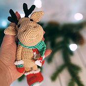 Куклы и игрушки handmade. Livemaster - original item Knitted toys-deer. Handmade.