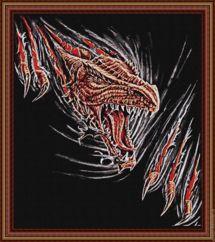 Схемы вышивки бисером драконов