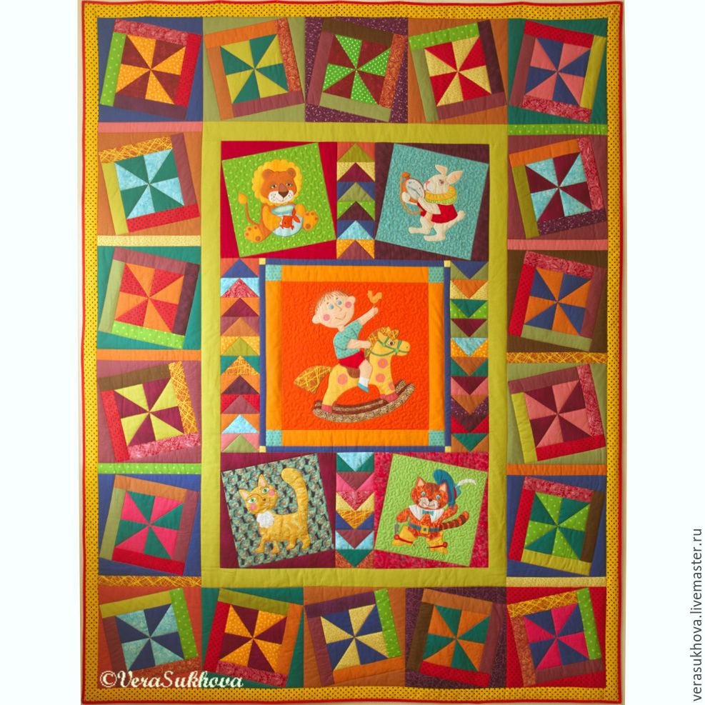 Kids quilt bedspread RIDER, Blanket, Ivanovo,  Фото №1