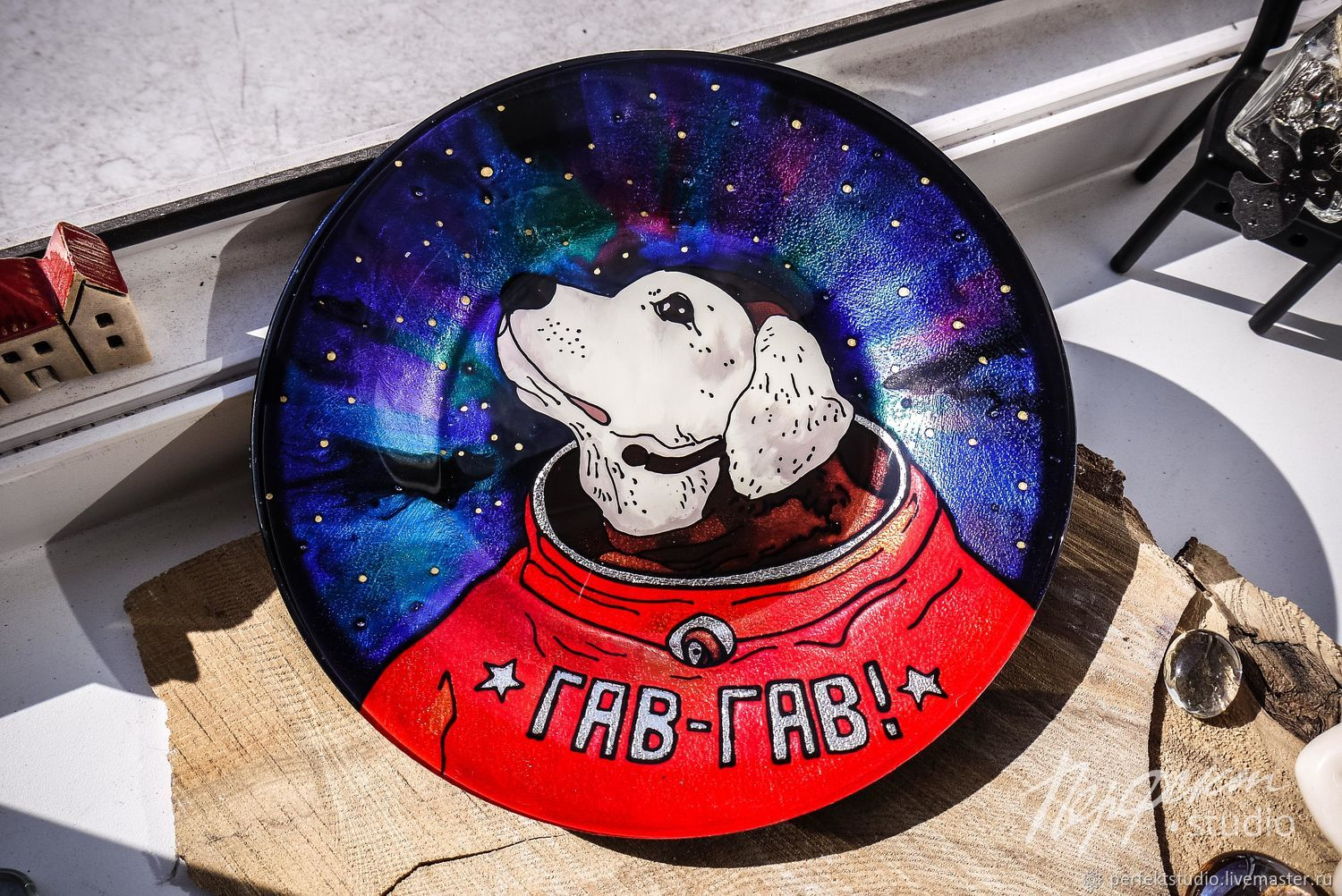 Plate 'Labrador in Space', Plates, St. Petersburg,  Фото №1
