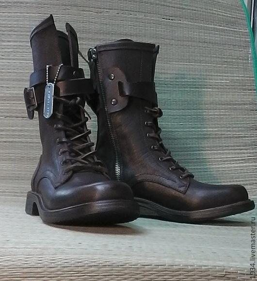 Обувь ручной работы. Ярмарка Мастеров - ручная работа. Купить Ботинки женские AIR-2. Handmade. Коричневый, кожа натуральная