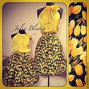 """Одежда ручной работы. Ярмарка Мастеров - ручная работа Family look """"Желтые тюльпаны"""". Handmade."""