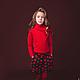 Одежда для девочек, ручной работы. Ярмарка Мастеров - ручная работа. Купить Шорты с сердца. Handmade. Ярко-красный, сердечки, свитер