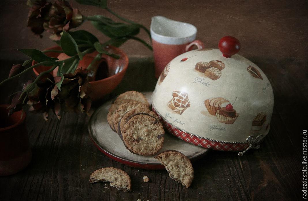 Хлебница-блинница Вишня в шоколаде. Декупаж, Хлебницы, Химки, Фото №1