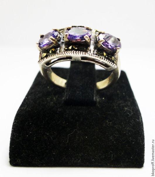 """Кольца ручной работы. Ярмарка Мастеров - ручная работа. Купить Серебряное кольцо 925 пробы аметист  """"Элегант"""". Handmade."""
