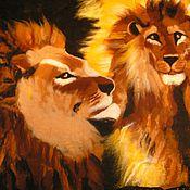Картины и панно ручной работы. Ярмарка Мастеров - ручная работа Огненые львы. Handmade.