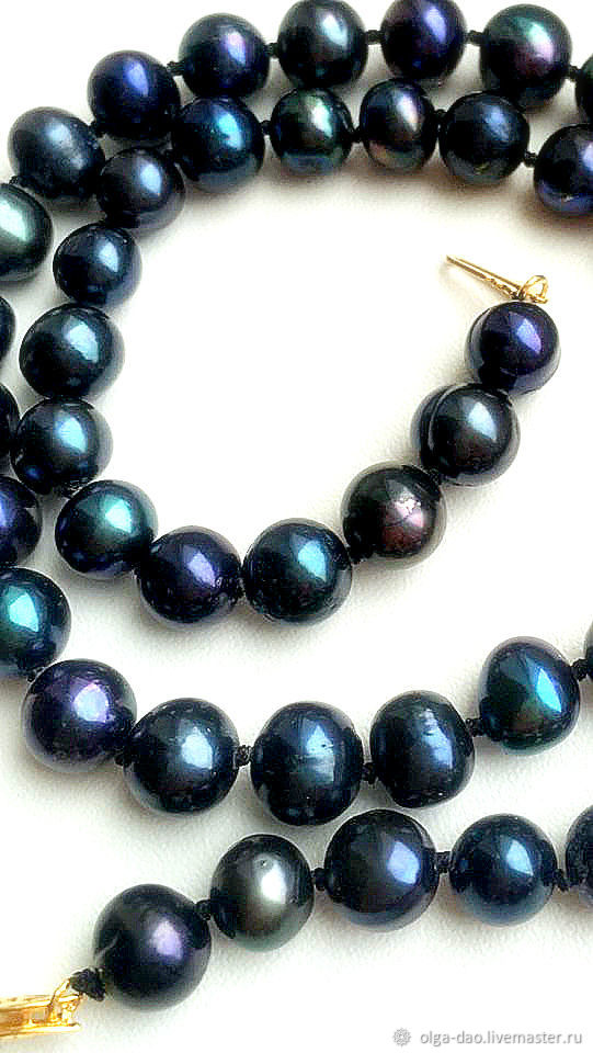 beads: Black pearl' Peacock'. Super Sea pearl, Beads2, Moscow,  Фото №1
