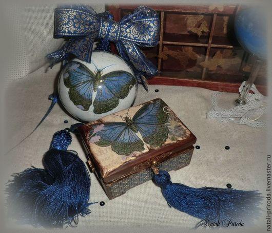 Комплекты аксессуаров ручной работы. Ярмарка Мастеров - ручная работа. Купить Дуэт в стиле блюз. Handmade. Синий
