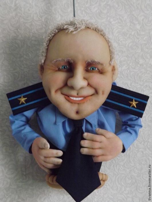 Портретные куклы ручной работы. Ярмарка Мастеров - ручная работа. Купить Портретная кукла На Удачу мужская. Handmade. капрон