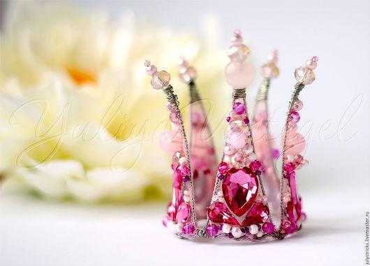 Праздничная атрибутика ручной работы. Ярмарка Мастеров - ручная работа. Купить Розовая корона для принцессы. Детские аксессуары. Корона детская. Handmade.