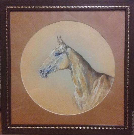 Животные ручной работы. Ярмарка Мастеров - ручная работа. Купить Портрет ахалтекинца. Handmade. Комбинированный, портрет, лошадь, ахалтекинец