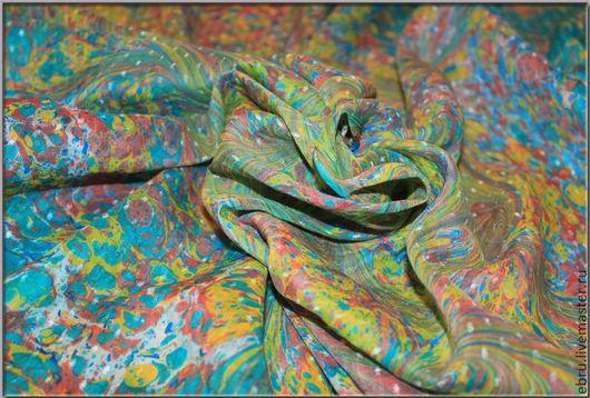 Шарфы и шарфики ручной работы. Ярмарка Мастеров - ручная работа. Купить Платок, выполненый в техники Эбру (рисунок по воде). Handmade.