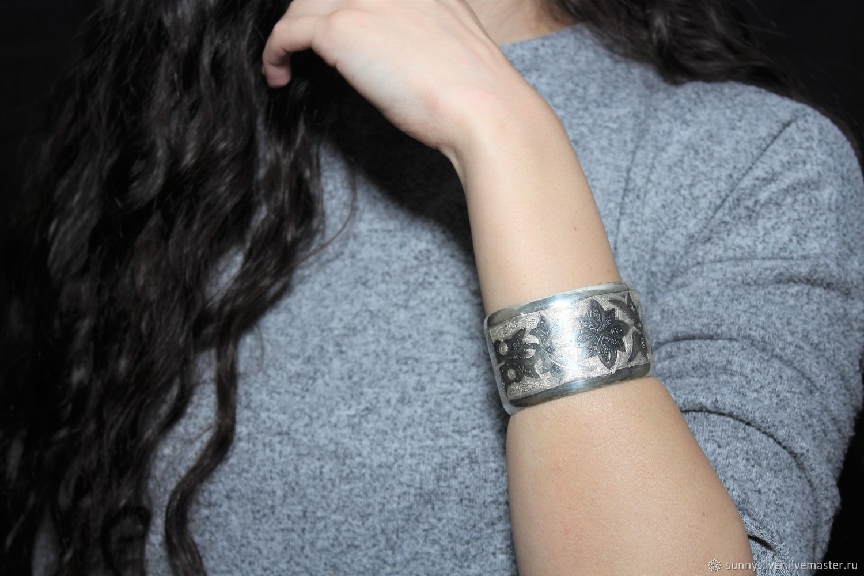 Minima Series cuff bracelet with brushed silver ASH0006 embossing, Cuff bracelet, Yerevan,  Фото №1