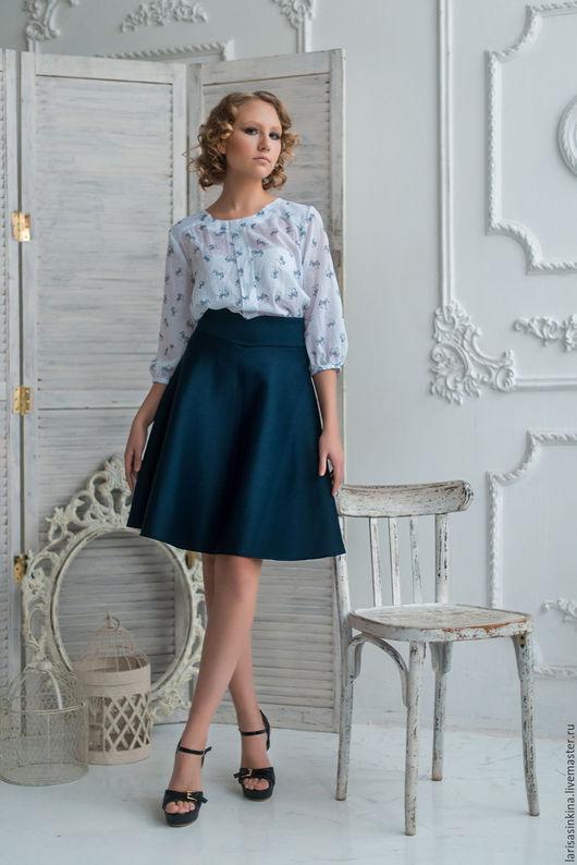 Юбки ручной работы. Ярмарка Мастеров - ручная работа. Купить неопреновая юбка (Ю001). Handmade. Тёмно-синий, юбка