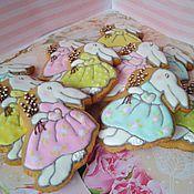"""Пряники ручной работы. Ярмарка Мастеров - ручная работа Имбирное печенье """"Пасхальный кролик"""" поштучно. Handmade."""