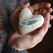 Подарки к праздникам ручной работы. Ярмарка Мастеров - ручная работа Ледяное сердце валентинка подарок влюбленным. Handmade.