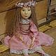 Коллекционные куклы ручной работы. Будуарная кукла Лия. Елена Гладковская. Ярмарка Мастеров. Куклы и игрушки, бледно-розовый