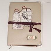 Канцелярские товары handmade. Livemaster - original item Notebook of leather white. Handmade.