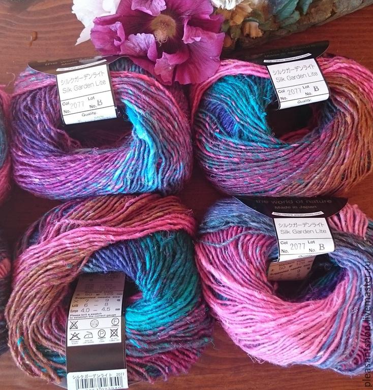 Вязание ручной работы. Ярмарка Мастеров - ручная работа. Купить Noro Silk Garden Lite 2077. Handmade. Разноцветный