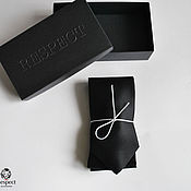 Аксессуары handmade. Livemaster - original item Black tie premium Perfetto / natural Italian silk. Handmade.