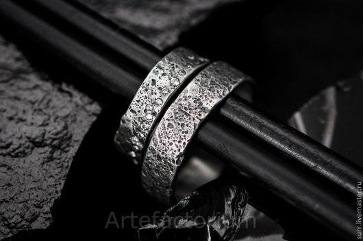 Свадебные украшения ручной работы. Ярмарка Мастеров - ручная работа. Купить Обручальные кольца с песочной текстурой. Handmade. Серебряный, камни