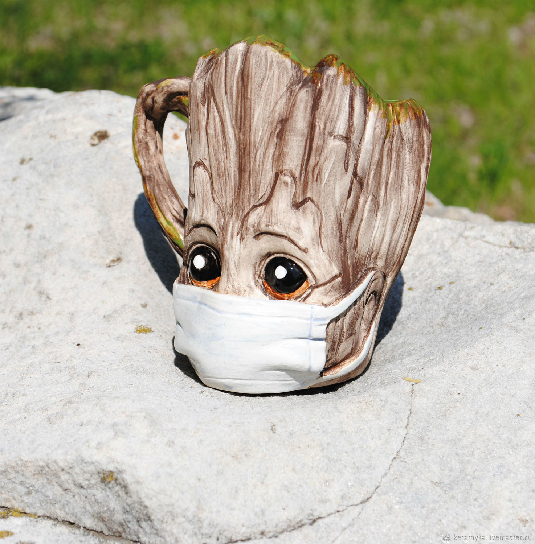 'Groot in quarantine' mug', Mugs and cups, Shigony,  Фото №1