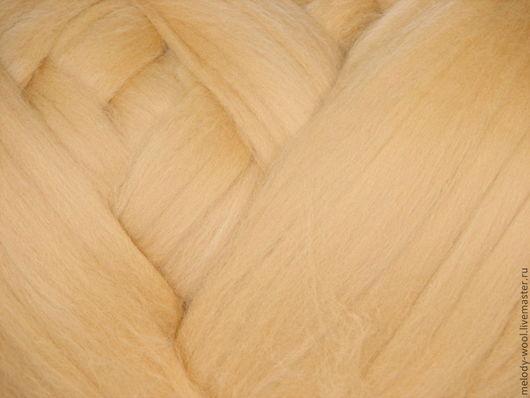 Валяние ручной работы. Ярмарка Мастеров - ручная работа. Купить Шерсть для валяния меринос 18 микрон цвет Дюна (Dune). Handmade.