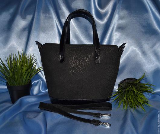 Женские сумки ручной работы. Ярмарка Мастеров - ручная работа. Купить Модель 762. Handmade. Черный, сумка из кожи