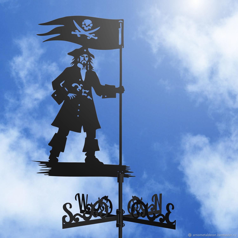 Weather vane on the roof ' Pirate', Vane, Ivanovo,  Фото №1