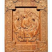 Икона из дерева Святая Троица