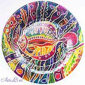 Тарелки ручной работы. Ярмарка Мастеров - ручная работа Тарелка декоративная Рыба. Handmade.