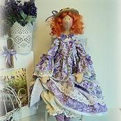 Куклы и игрушки ручной работы. Ярмарка Мастеров - ручная работа Кукла в стиле Тильда. Влюбленная в лаванду.... Handmade.