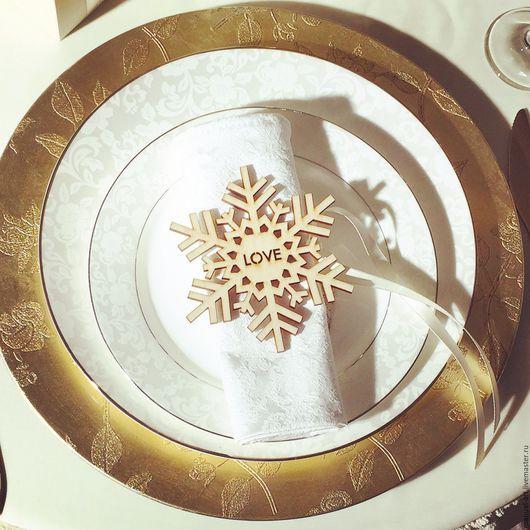 Свадебные аксессуары ручной работы. Ярмарка Мастеров - ручная работа. Купить Рассадочная карточка в зимней тематике. Handmade. Коричневый