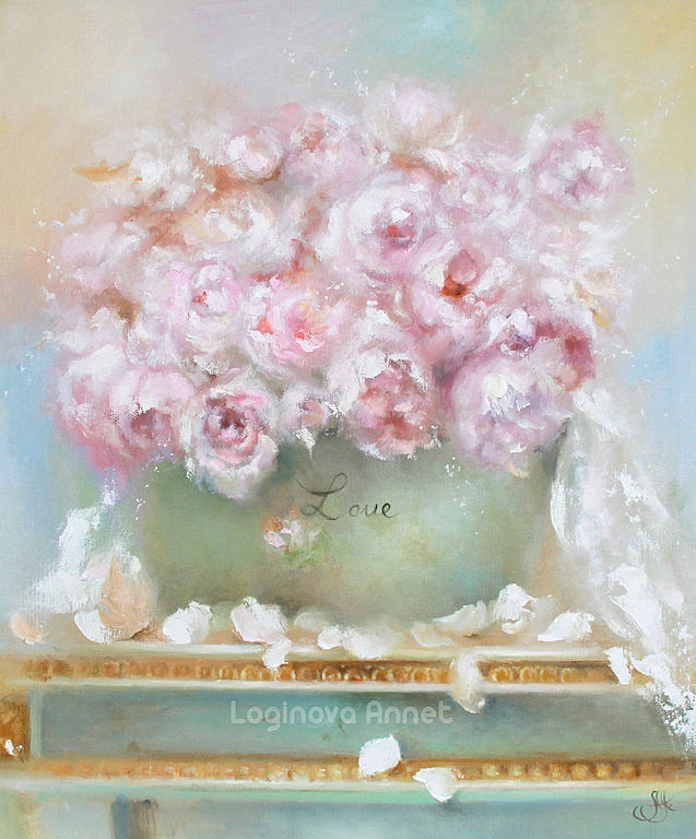 Oil painting Peonies.love, Pictures, Moscow,  Фото №1