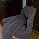 """Пончо ручной работы. Ярмарка Мастеров - ручная работа. Купить Вязаный шарф-капюшон """"Сиреневый туман"""". Handmade. Серый"""