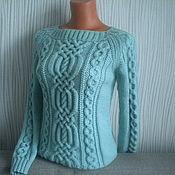 """Одежда ручной работы. Ярмарка Мастеров - ручная работа """"Мятный свитерок"""". Handmade."""