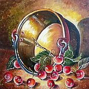 """Картины и панно ручной работы. Ярмарка Мастеров - ручная работа Картина """"Черешенка"""". Handmade."""