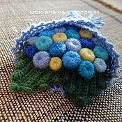 Украшения handmade. Livemaster - original item Knitted brooch Bouquet Blue 4. Handmade.