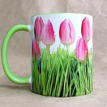 """Посуда ручной работы. Ярмарка Мастеров - ручная работа Чашка """"Тюльпаны"""". Handmade."""