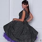 Платья ручной работы. Ярмарка Мастеров - ручная работа Платье в стиле 50-х  Мелкий горошек. Handmade.