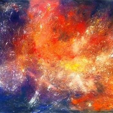 Картины и панно ручной работы. Ярмарка Мастеров - ручная работа Картина пастелью - глубоко в космосе. Handmade.