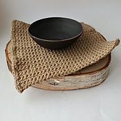 Салфетки ручной работы. Ярмарка Мастеров - ручная работа Салфетка/коврик на стол из джутового волокна.. Handmade.